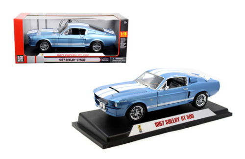 01141 SHELBY COLLECTIBLES SHELBY GT500 синий 1967