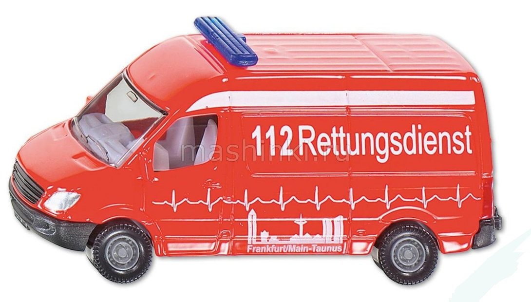 0805 03+ SIKU SIKU 1/64 MERCEDES-BENZ New Sprinter Austrian Ambulance red