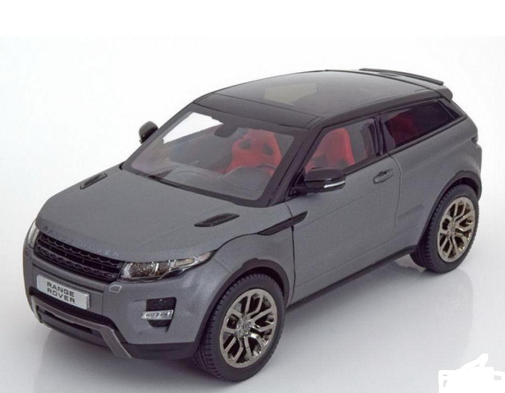 11003MB-GR GT AUTOS WELLY RANGE ROVER Evoque (3 двери) 2011 matt grey-black