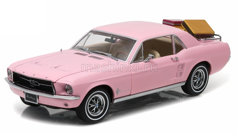 12966 14+ GREENLIGHT GREENLIGHT 1/18 FORD Mustang Coupe (с багажом) 1967 pink