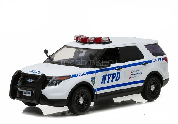 12973 14+ GREENLIGHT GREENLIGHT 1/18 FORD Police Interceptor Utility New York City Police Department NYPD 2015