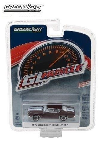 13190C 14+ GREENLIGHT GREENLIGHT 1/64 CHEVROLET Chevelle SS 454 1970 black cherry