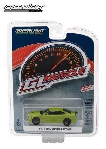 13190F 14+ GREENLIGHT GREENLIGHT 1/64 DODGE Charger SRT 392 2017 green