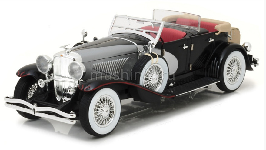 13504 14+ GREENLIGHT GREENLIGHT 1/18 DUESENBERG II SJ La Grande Torpedo 1930 black/silver