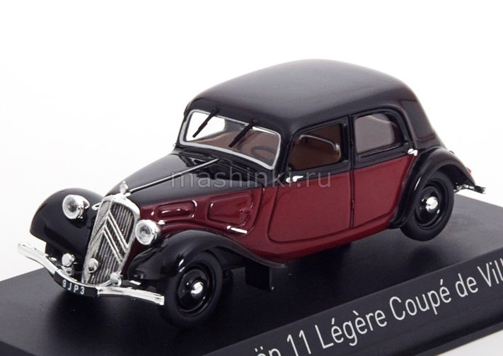153050 14+ NOREV NOREV 1/43 CITROEN 11 Legere Coupe de Ville 1935 dark red/black