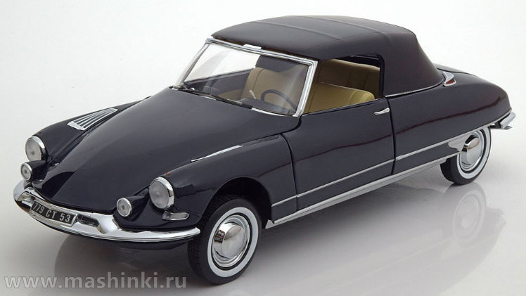 181564 NOREV NOREV 1/18 CITROEN DS19 Cabriolet 1961 royal blue