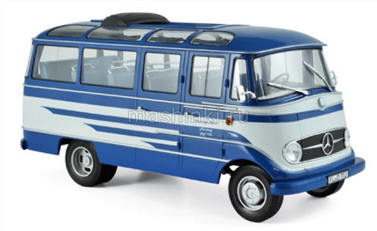 183412 14+ NOREV NOREV 1/18 Автобус MERCEDES-BENZ O319 1957 blue/beige