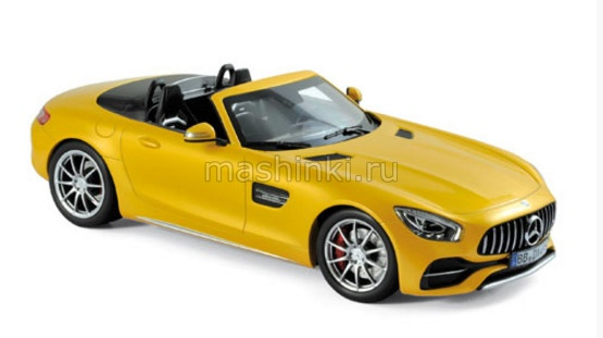 183451 14+ NOREV NOREV 1/18 MERCEDES AMG GT C Roadster (R190) 2017 yellow metallic