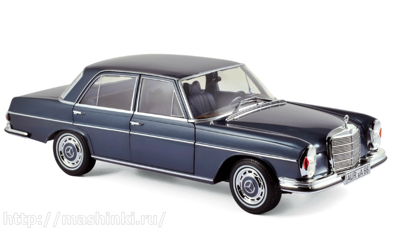 183534 NOREV NOREV 1/18 MERCEDES-BENZ 280SE Sedan (W108) 1968 blue metallic