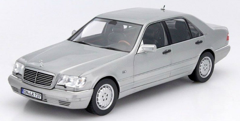 183563 NOREV NOREV 1/18 MERCEDES-BENZ S600 (W140) 1997 pearl light grey