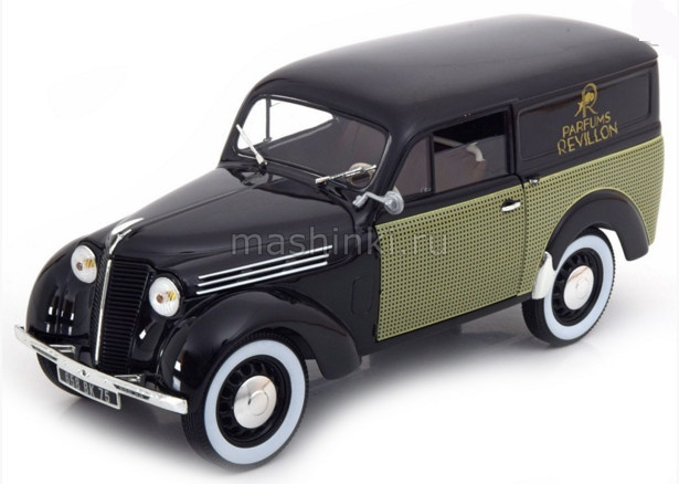 185261 14+ NOREV NOREV 1/18 RENAULT Juvaquarte 300 kg фургон Parfums Revillon 1953 black