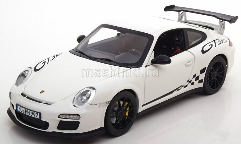 187561 14+ NOREV NOREV 1/18 PORSCHE 911 GT3 RS (997) 2010 whitеwith black stripping