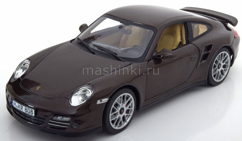 187622 14+ NOREV NOREV 1/18 PORSCHE 911 Turbo 2010 brown metallic