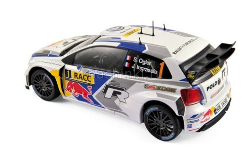 188477 14+ NOREV NOREV 1/18 VW POLO R WRC №1 S.Ogier-J.Ingrassia World Champion Winner Rally RACC Catalunya 2014