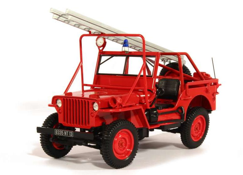 189012 NOREV NOREV 1/18 JEEP Willis 4x4 Fire Department пожарный 1988