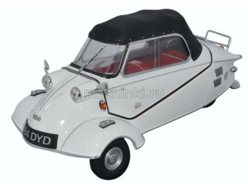 18MBC005 14+ OXFORD OXFORD 1/18 MESSERSCHMITT KR200 Bubble Car Cabrio 1955 polar white