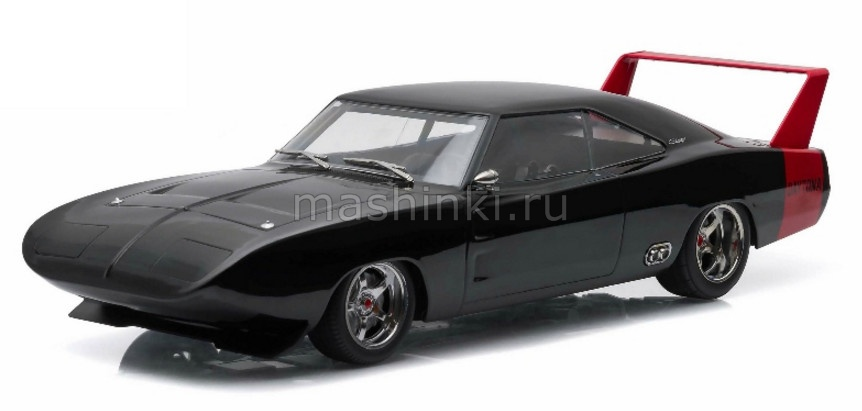 19020 14+ GREENLIGHT GREENLIGHT 1/18 DODGE Charger Daytona Custom 1969 black with red