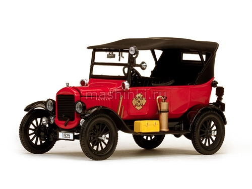1902 14+ SUNSTAR SUNSTAR 1/24 FORD Model T Touring (Fire Chief) 1925 red