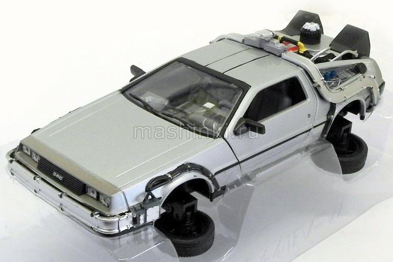 22441FV-GW 03+ WELLY WELLY 1/24 DE LOREAN DMC12 Back to Future-2 (к/ф Назад в будущее 2)