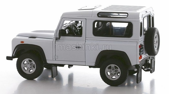 22498SL 03+ WELLY WELLY 1/24 LAND ROVER Defender 4x4 2010 silver