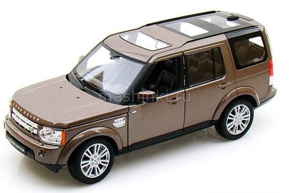 24008BR 03+ WELLY WELLY 1/24 LAND ROVER Discovery 4 2008 metallic brown