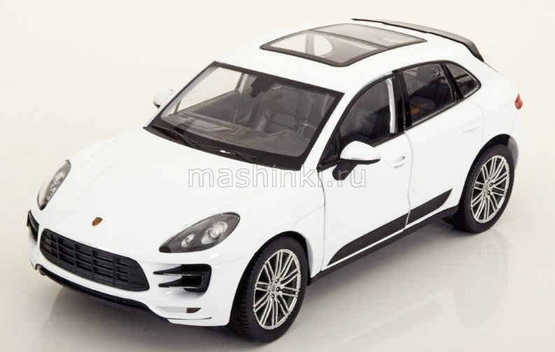24047WH 03+ WELLY WELLY 1/24 PORSCHE Macan Turbo 2014 white
