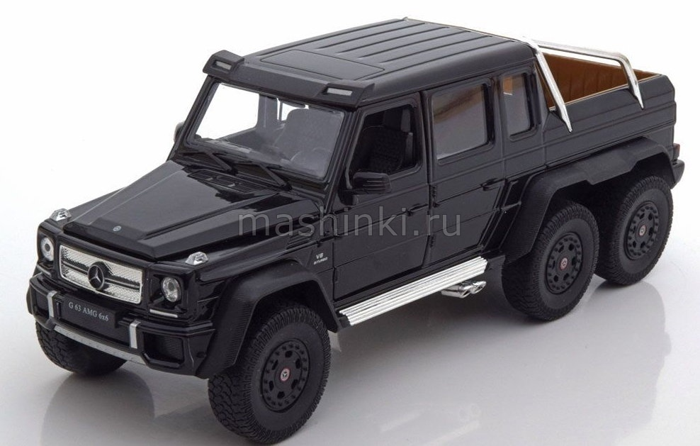 24061BL 03+ WELLY WELLY 1/24 MERCEDES-BENZ AMG G63 6x6 2015 black
