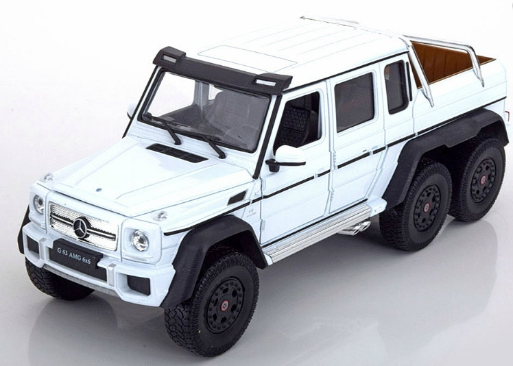 24061WH WELLY WELLY 1/24 MERCEDES-BENZ AMG G63 6x6 2015 white