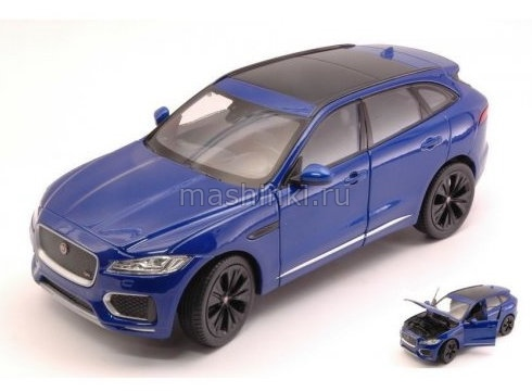 24070BL 03+ WELLY WELLY 1/24 JAGUAR F-Pace кроссовер 2016 Metallic Blue