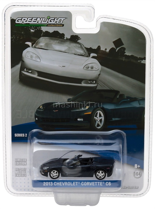 27875B 14+ GREENLIGHT GREENLIGHT 1/64 CHEVROLET Corvette Convertible 2013 Night Race blue