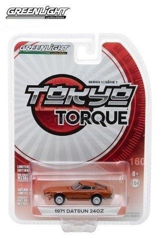 29880B 14+ GREENLIGHT GREENLIGHT 1/64 DATSUN 240Z 918 1971 orange