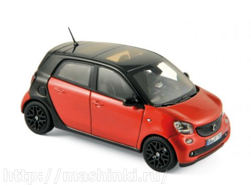 351425 NOREV NOREV 1/43 SMART Forfour (W453) 2015 black/red
