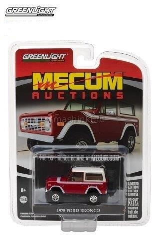 37110F 14+ GREENLIGHT GREENLIGHT 1/64 FORD Bronco 4x4 1975 red/white