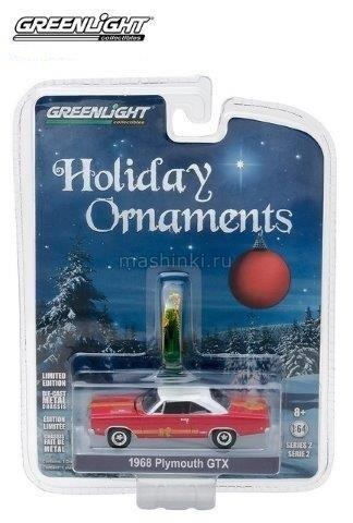 37120C 14+ GREENLIGHT GREENLIGHT 1/64 PLYMOUTH GTX 1968 Red/White