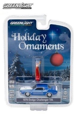 37120E 14+ GREENLIGHT GREENLIGHT 1/64 DODGE Challenger T/A 1970 Blue/White