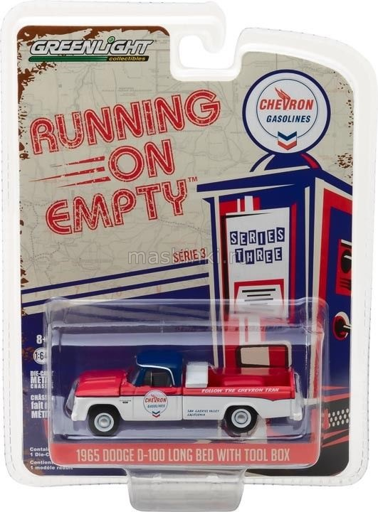 41030A 14+ GREENLIGHT GREENLIGHT 1/64 DODGE D-100 Chevron 1965 red/white