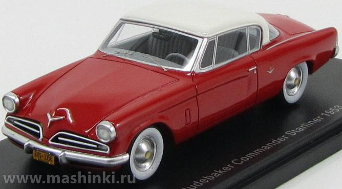 43350 BOS (Best of Show) BOS 1/43 STUDEBAKER Commander Starliner 1953 red-white