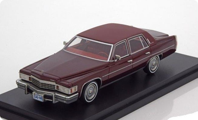 43445 BOS BOS 1/43 CADILLAC Fleetwood Brougham 1978 metallic dark red