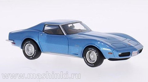 43540 BOS (Best of Show) BOS 1/43 CHEVROLET Corvette (C3) 1973 metallic light blue