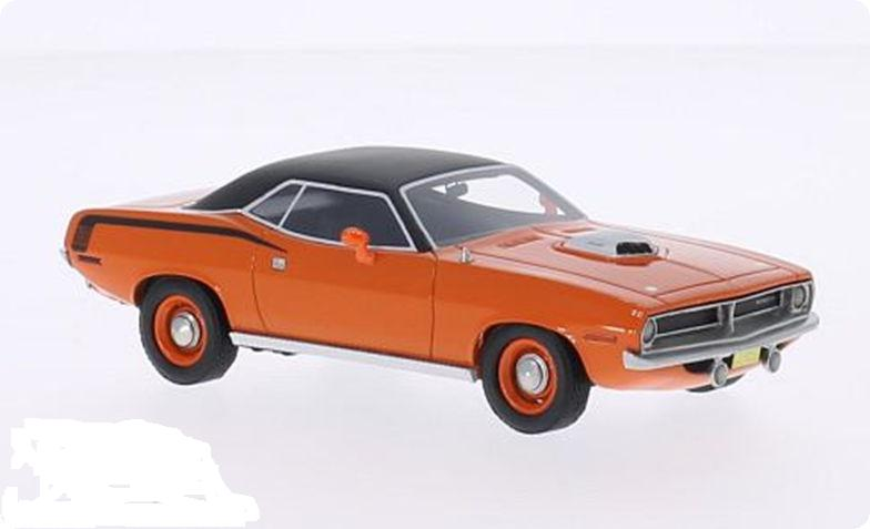43625 BOS BOS 1/43 PLYMOUTH Cuda 426 HEMI Coupe 1970 orange