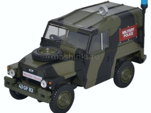 43LRL002 14+ OXFORD OXFORD 1/43 LAND ROVER Series III 1/2 Ton Lightweight Hard Top Military Police 1972
