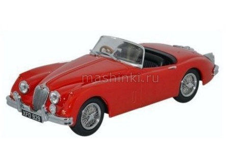 43XK150008 14+ OXFORD OXFORD 1/43 JAGUAR XK150 Roadster 1957 carmen red