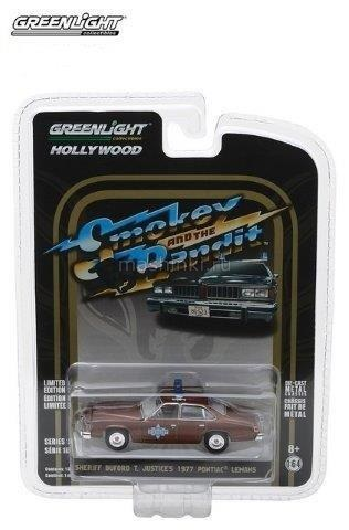 44780B 14+ GREENLIGHT GREENLIGHT 1/64 PONTIAC LeMans Sheriff Buford 1977 (из к/ф