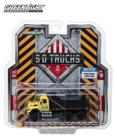 45020A 14+ GREENLIGHT GREENLIGHT 1/64 INTERNATIONAL WorkStar Dump Truck New York City (самосвал) 2017