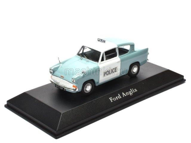 4650103 14+ ATLAS ATLAS 1/43 FORD Anglia 105E Metropolitan Police 1959 light blue/white