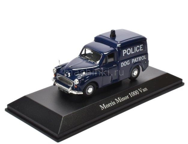 4650104 14+ ATLAS ATLAS 1/43 MORRIS MINOR 1000 Van West Riding Constabulary Dog Patrol 1957