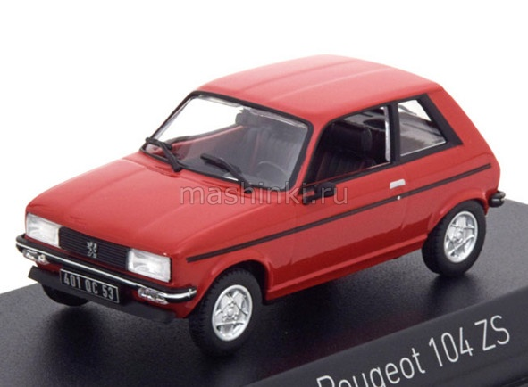 471403 14+ NOREV NOREV 1/43 PEUGEOT 104 ZS 1979 persan red