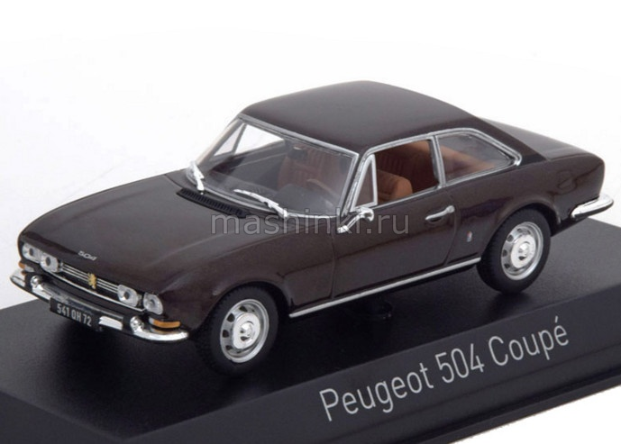 475433 14+ NOREV NOREV 1/43 PEUGEOT 504 Coupe 1969 brown metallic