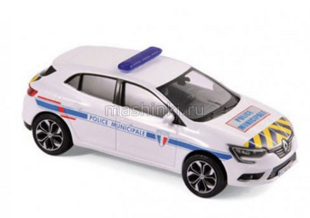 517724 14+ NOREV NOREV 1/43 RENAULT Megane Police Municipale 2016 yellow/blue stripping
