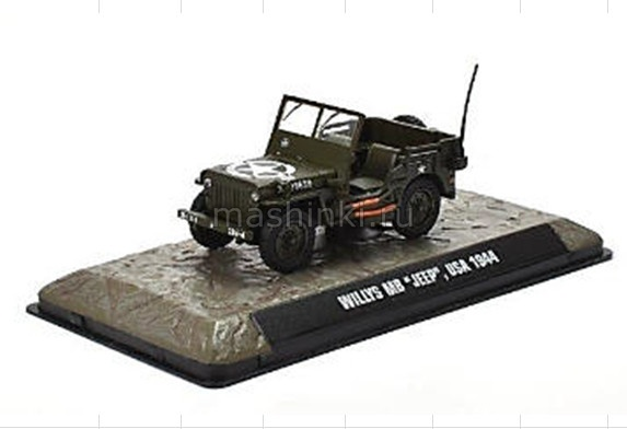 7123101 14+ ATLAS ATLAS 1/43 JEEP Willys MB 4х4  США 1944